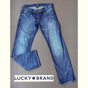 Lucky Brand men low rise straight jeans W34 L32